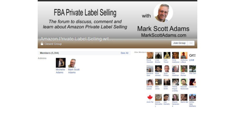 Amazon Private Label Selling with Mark Scott Adams ( Facebook Group )