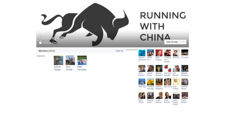 Running with China ( Facebook Group )