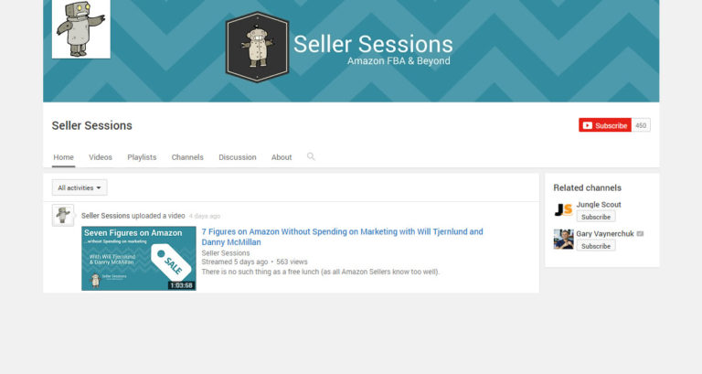 Seller Sessions YouTube Channel