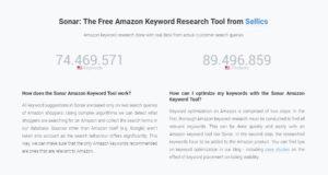 sonar keyword tool