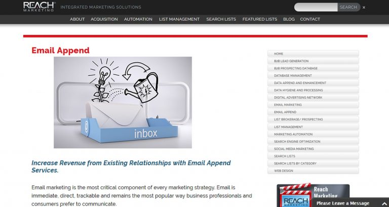 Reach Marketing Email Append