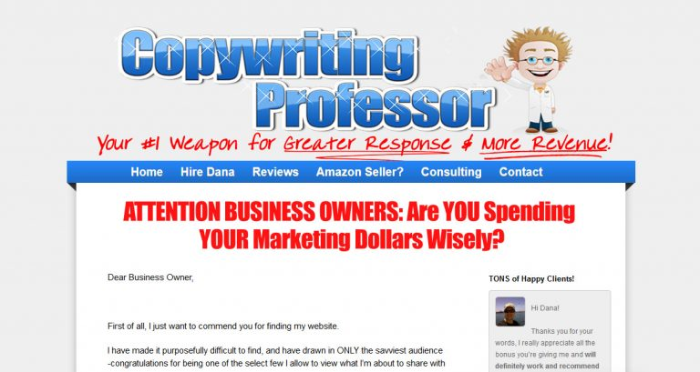Copywriting Professor