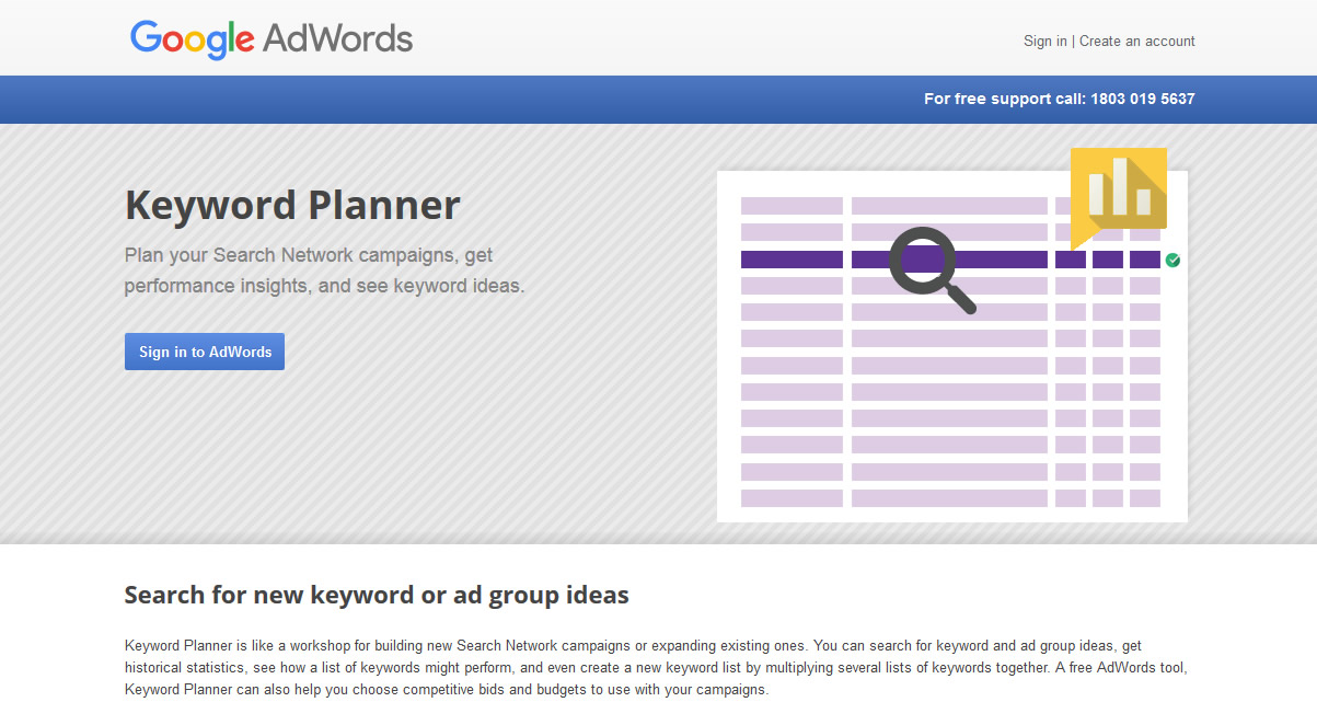 AdWords Keyword Planner 1 Form Of amazon keyword tool