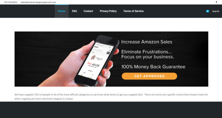 Amazon Category Approval