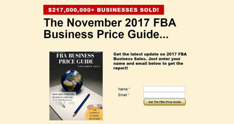 FBA Business Price Guide