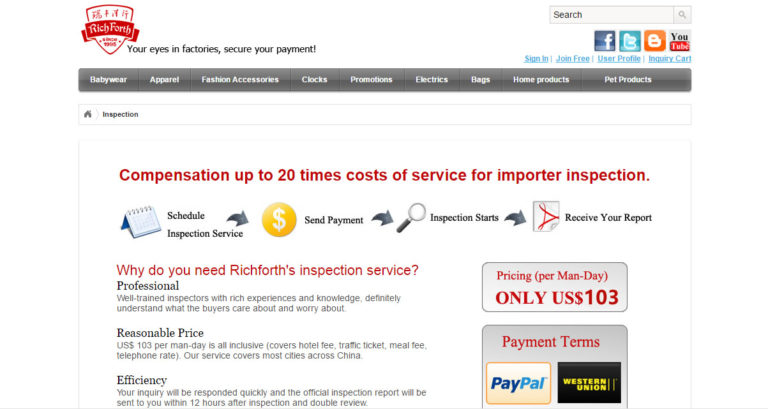 RichForth Inspection Service