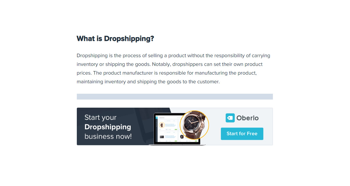 Oberlo – Amazon Dropshipping Guide « Amazon Seller Tools